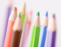 Colored pencils closeup Royalty Free Stock Images