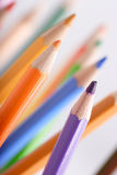 Colored pencils closeup Royalty Free Stock Image