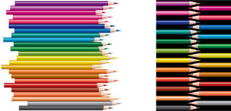 Colored pencils, collage Royalty Free Stock Images