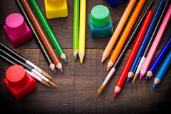 Colored pencils - color pencil Stock Image