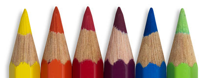 Colored pencils. Colorful sharp bright colored pencils Royalty Free Stock Photos