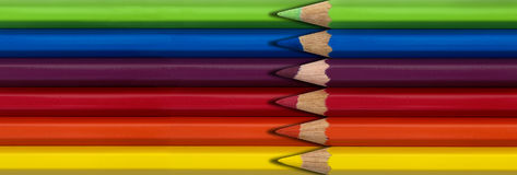 Colored pencils. Colorful sharp bright colored pencils Stock Photography