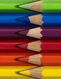 Colored pencils. Colorful sharp bright colored pencils Royalty Free Stock Image