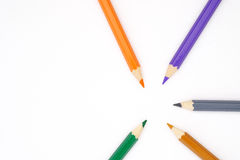 Colored pencils. Colorred pencils arranged in pattern Royalty Free Stock Image