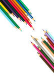 Colored pencils. Colouring pencils that have been used for work Royalty Free Stock Photos