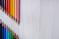 The colored pencils composition. The new colored pencils composition Stock Photo