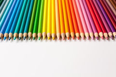 Colored Pencils and Crayons Royalty Free Stock Photos