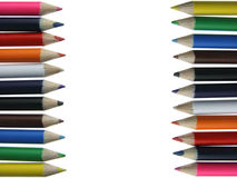 Colored pencils - crayons - chalks. Isolated on white background Stock Photos