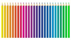 Colored Pencils, Crayons Set, Back To School. Color Spectrum Vector Pencils And Crayons Isolated On White Background. Very High Qu Stock Image