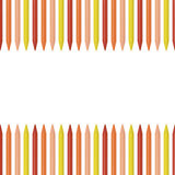Colored pencils, crayons on white background with place for text Royalty Free Stock Image