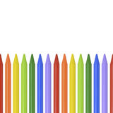 Colored pencils, crayons on white background with place for text royalty free stock photography