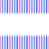 Colored pencils, crayons on white background with place for text Stock Image