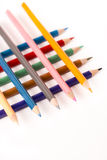 Colored Pencils Crayons. On white backgroundn Stock Photo
