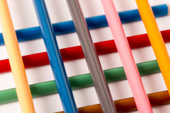 Colored Pencils Crayons. On white backgroundn Royalty Free Stock Photography