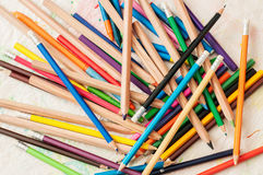 Colored pencils. Creative Art Background from colored pencils Royalty Free Stock Image