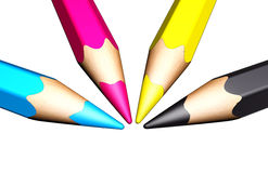 Colored pencils Royalty Free Stock Photos
