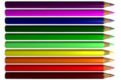 Colored pencils (3D). Photo of Colored pencils (3D stock illustration