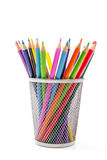 Colored Pencils in Desktop Holder Stock Photography