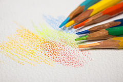 Colored pencils. Different colors pencils for art Royalty Free Stock Image
