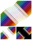 Colored pencils drawing rainbow Stock Images
