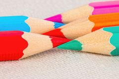 Colored pencils. Royalty Free Stock Photos