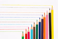 Colored pencils drawing Royalty Free Stock Image