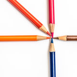 Colored pencils drawing Royalty Free Stock Photos