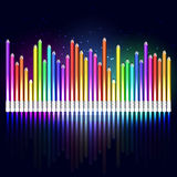 Colored pencils equalizer Royalty Free Stock Image