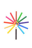 Colored pencils flower Royalty Free Stock Images