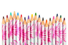 Colored pencils in the form of wave Stock Photography
