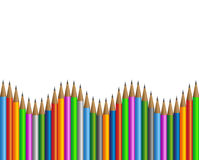Colored pencils frame Royalty Free Stock Image
