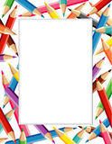 Colored Pencils Frame  Stock Photos