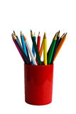 Colored pencils in a glass Royalty Free Stock Photography