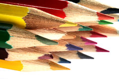Colored pencils group Royalty Free Stock Photos