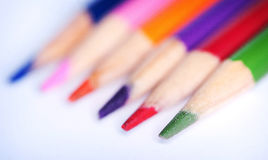 Colored Pencils. A grouping of colored pencils Stock Images
