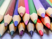Colored pencils stock images