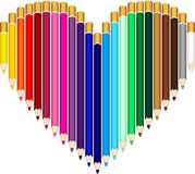 Colored pencils heart Royalty Free Stock Photo