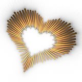 Colored pencils in a heart shape Royalty Free Stock Photography