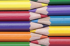 Colored pencils in a horizontal composition Stock Photo