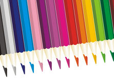 Colored pencils illustration Royalty Free Stock Photography