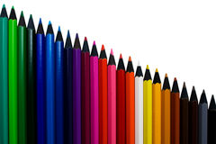 Colored pencils isolated Stock Photography
