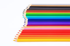 Colored pencils isolated. On white background Stock Photos