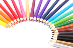 Colored pencils isolated. On white background Stock Image