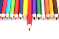 Colored pencils isolated. On white background Royalty Free Stock Photo