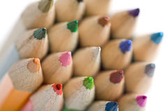 Colored pencils isolated Royalty Free Stock Photos