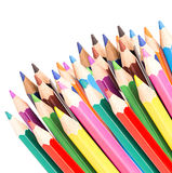 Colored pencils isolated Stock Photos