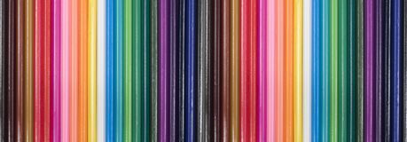 Colored pencils, isolated on the white Royalty Free Stock Image