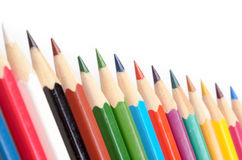 The colored pencils Stock Image
