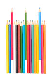 The colored pencils Stock Images