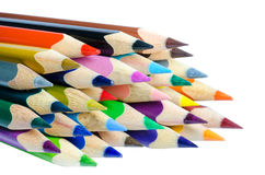 Colored pencils isolated on white background Royalty Free Stock Image